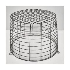 """Center Round Terminal Guard 9.5"""" x 6.5"""" Stainless Steel"""