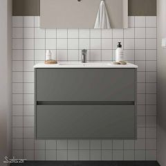 Noja 2 Wall Hung Drawer Vanity with 1 Taphole Basin