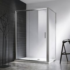 Rosery 6mm Sliding Shower Door with Side Panel