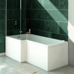 Verde L Shaped 1700mm Shower Bath