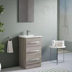 Acuario Floor Standing 3 Drawer Vanity with Basin