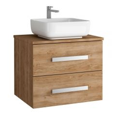 Acuario Wall Hung 2 Drawer Vanity with Countertop