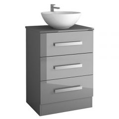 Acuario Floor Standing 3 Drawer Vanity with Countertop