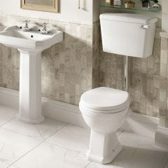 Roxton Low Level Toilet Pan and 6/4 L Lever Lever Cistern (No Seat)