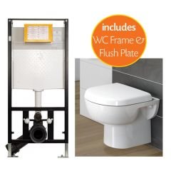 Madison Wall Hung Toilet Pack with 1.15m Frame and Plate