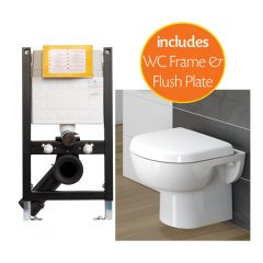 Madison Wall Hung Toilet Pack with 0.78m Frame and Plate