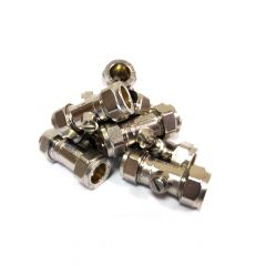 """½"""" L/P CXC Chrome Plated Isolating Valve (Pack of 10)"""