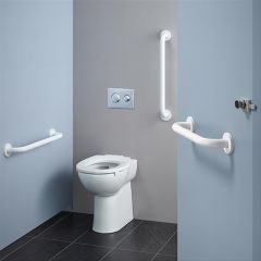 Ideal Standard Contour 21+ Raised Height Back to Wall Rimless Toilet with Horizontal Outlet