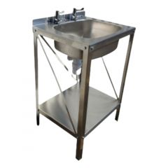 Pland Stainless Steel 2 Taphole Emergency Hand Wash Station