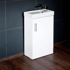 Annagh 400mm 1 Door Cloakroom Vanity Base Unit (White)