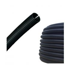 14mm Slit Corrugated Sleeved Pipe (25m roll, price per meter)