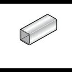Cork Plastics 65mm Black Square Down Pipe 4m