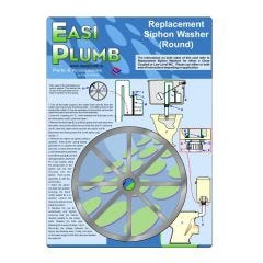 """Easi Plumb 4"""" Round Replacement Siphon Washer"""