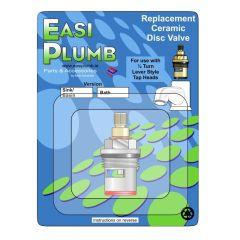 "Easi Plumb Single 1/2"" Brass Replacement Ceramic Disc (Red)"