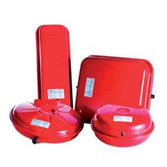12L Round Flat Expansion Vessel Red 324