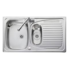 Euroline EL9502 Bowl and 1/2 Single Drainer Stainless Steel Sink (Reversible)