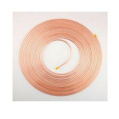 "15m Coil ¼"" Plain Degreased Copper Pipe"