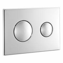 Conceala 2 Flush Plate Chrome Dual Flush With Logo