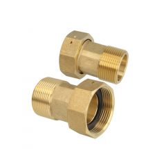"""1/2"""" x 3/4"""" Brass Water Meter Connection"""
