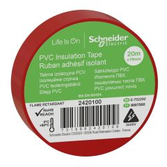 20m x 19mm Red Insulating Tape