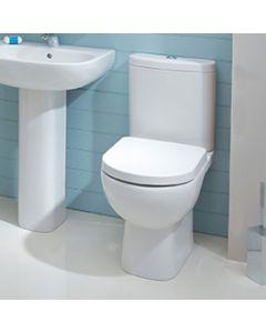 Amanda Back to Wall Close Coupled Toilet Pan, Cistern and Soft Close Seat