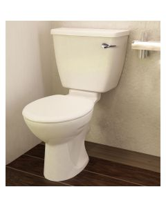 Atlas Smooth Close Coupled 500mm High Toilet Pan and Cistern with Spatula Lever (No Seat)