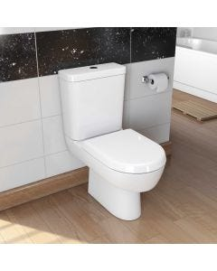 Madison Close Coupled Toilet Pan, Cistern and Soft Close Seat