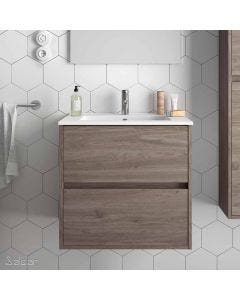 Salgar Noja 2 Drawer 610mm Vanity Unit (Eternity) and 1 Taphole Basin