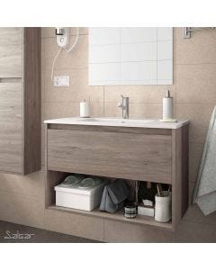 Salgar Noja 600mm Wall Hung 1 Drawer Open Shelf Vanity (Eternity) with 1 Taphole Basin