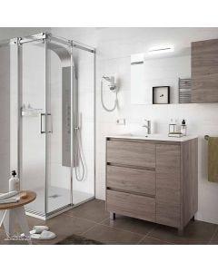 Salgar Arenys 855mm Floor Standing 3 Drawer 1 Left Hand Door Vanity with Basin (Eternity)