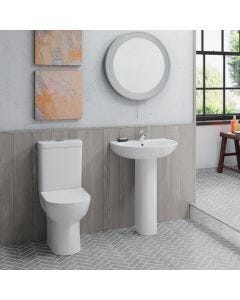 Anna Close Coupled Comfort Height Round Toilet with Soft Close Seat