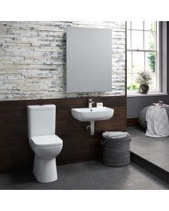 Anna Close Coupled Comfort Height Square Toilet with Soft Close Seat