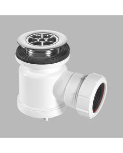 "McAlpine 1½"" x 19mm Seal Shower Trap - 70mm Chrome Plastic Flange"