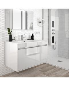 Noja 600mm 2 Door Vanity Base Unit (Gloss White)