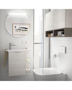 Martha 550mm 1 Door Cloakroom Vanity Base Unit (Sbiancato)