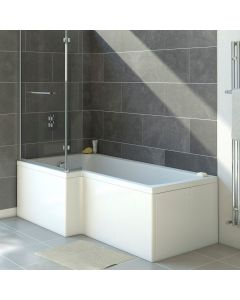 L Shaped Shower Bath 1675mm (Right Hand)