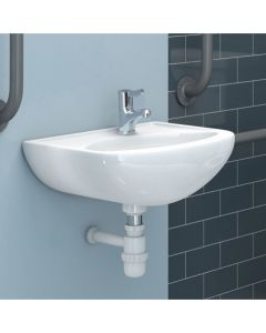 Doc M Less Abled 45cm One Taphole Right Hand Basin (no overflow)