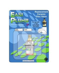 "Easi Plumb Single 3/4"" Replacement Brass Ceramic Disc Valve (Red)"