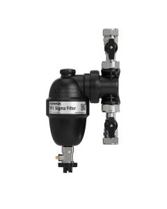Fernox Sigma Filter 22mm Slip Socket With Isolaton Valves
