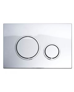 Fluidmaster T Series Round ABS Flush Plate (Gloss Chrome)