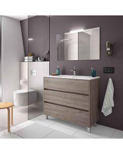 Salgar Arenys Floorstanding 3 Drawer Vanity Unit 1010x460mm (Eternity)