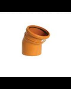 "4"" 30deg Single Socket Sewer Bend"