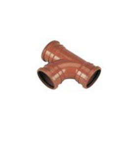 "Cork Plastics 4"" Triple Socket 90° Sewer Tee"