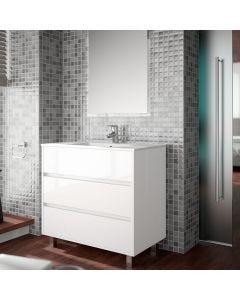 Salgar Arenys 610mm 3 Drawer Vanity Base Unit (Gloss White)