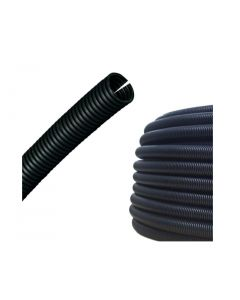 14mm Slit Corrugated Sleeved Pipe (25m Roll)