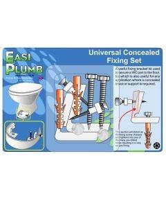 Easi Plumb Universal Concealed Pan Fixing Kit for Toilets