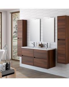 Noja/ Arenys Tall Storage Unit 1400mm (Brown Acacia)