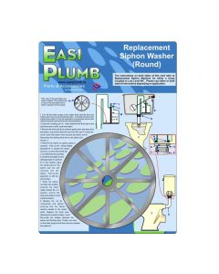 "Easi Plumb 5"" Round Replacement Siphon Washer"