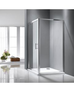Rosery 800 / 760mm Pivot Shower Door Only with Easy Clean Glass