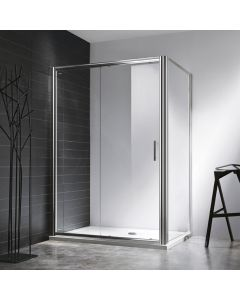 Rosery 1000mm Sliding Shower Door with Easy Clean Glass